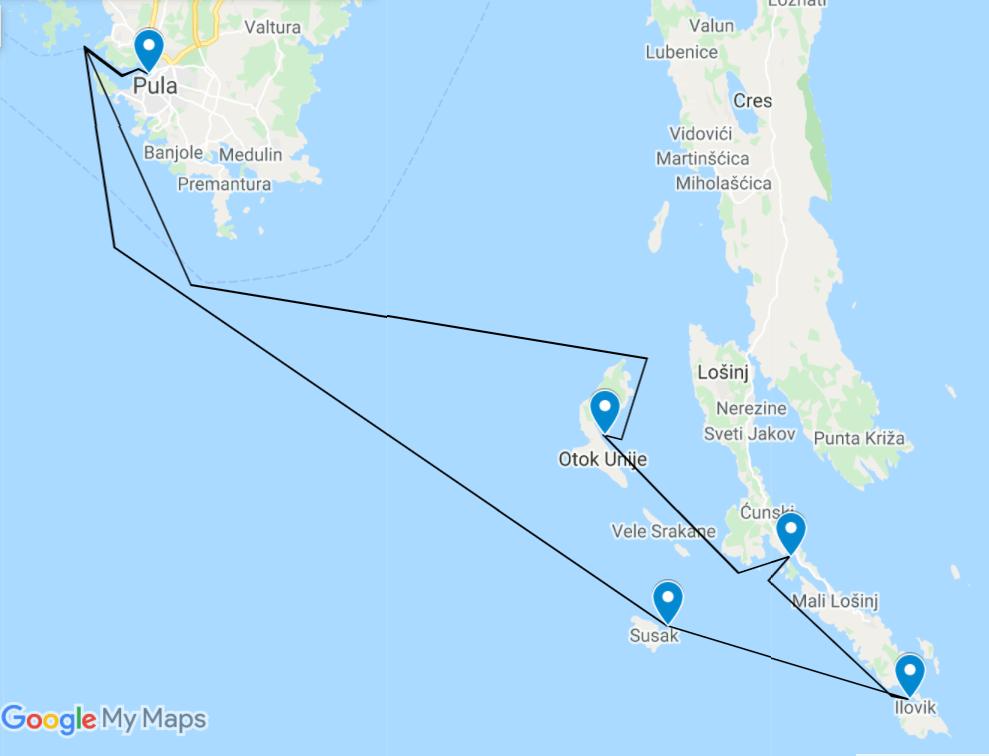 Basic course route google maps